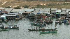 Cambodian fishing village - stock footage