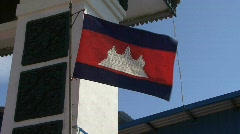 Cambodian flag Stock Footage