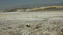 Pan of Desert Borax Field Stock Footage