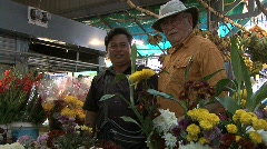 Cambodia men in a market Stock Footage