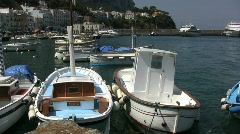 Boats at Capri  Stock Footage