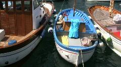 Capri fishing boat Stock Footage