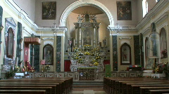 Castelcivita church Stock Footage