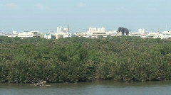 Elephant statue seen from the Chao Phraya River Stock Footage