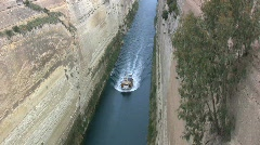 Corinth canal from above Stock Footage