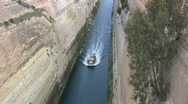Stock Video Footage of Corinth canal from above