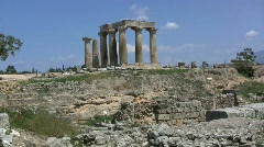 Corinth Columns of the Temple of Apollo Stock Footage