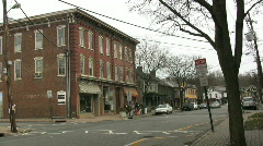 Small town in the eastern USA Stock Footage