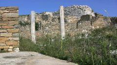 Delos house ruins Stock Footage