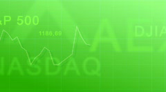 Market indexes - green Stock Footage