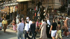 Stock Video Footage of Egypt crowds at a Cairo market