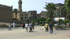 Egypt street scene in Cairo - stock footage