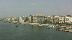 Egypt Port Said and the Suez Canal Stock Footage