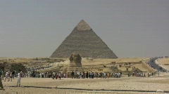 Egypt Pyramids at Giza Stock Footage