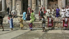Ephasus Pageant at Library of Celsus Stock Footage