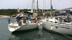 Fiscardo on Kefalonia sailboats  Stock Footage