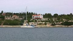 Fiscardo on Kefalonia island  Stock Footage