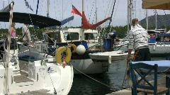 Fiscardo on Kefalonia boats Stock Footage