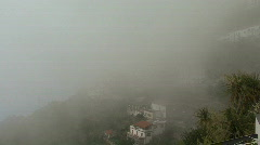 Fog obscures a view on the Amalfi coast Stock Footage