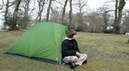 Tent breakfast Stock Footage