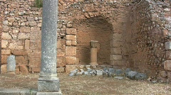 Greece Delphi A Small column in nitch Stock Footage
