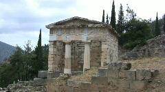 Greece Delphi treasury  Stock Footage