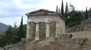 Stock Video Footage of Greece Delphi treasury