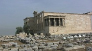 Stock Video Footage of Greek Antiquities Erechtheum Acropolis Athens