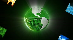 Environmental conservation with Earth planet, recycling concept - stock footage