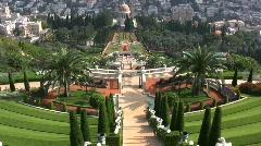 Haifa Bahai headquarters and gardens Stock Footage