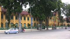 Hanoi European style building - stock footage