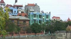Hanoi houses 200 Stock Footage