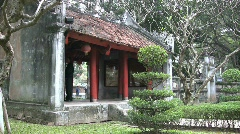 Hanoi temple of literature Stock Footage