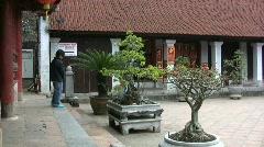 Hanoi temple Stock Footage