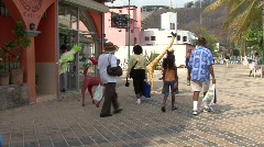 Huatulco Mexico shops Stock Footage