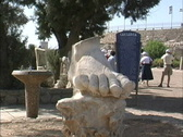 Stock Video Footage of ISR11 Marble foot Caesarea