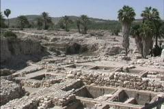 Tell Megiddo excavations Stock Footage