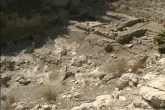 Pans excavation at Megiddo Stock Footage