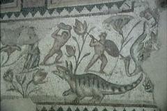 Roman mosaic Sepphoris Stock Footage