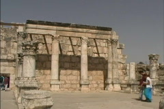Capernaum synagogue Stock Footage