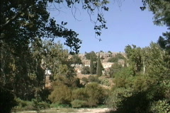 Landscape at Banyas in Israel Stock Footage