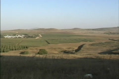 Israel Golan Heights landscape Stock Footage
