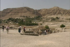Tell Jericho archeological site Stock Footage