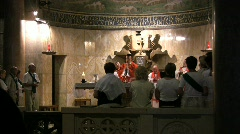 Israel Priest celebrating Mass Jerusalem  Stock Footage