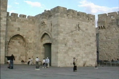Jerusalem Jaffa Gate Stock Footage