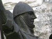 Stock Video Footage of Jerusalem Statue of Crusader