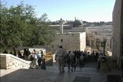 Jerusalem View toward El Aqsa Mosque Stock Footage