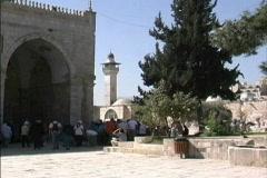 Jerusalem Temple Mount at El Aqsa Stock Footage
