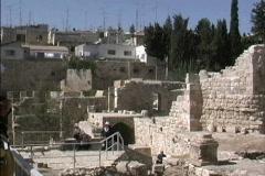 Jerusalem Pool of Bethesda Stock Footage