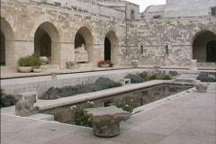 Jerusalem Courtyard Rockefeller Museum Stock Footage